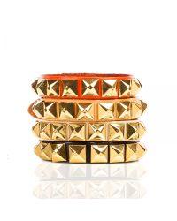 Linea Pelle | Brown Grayson Skinny Stud Bracelet | Lyst