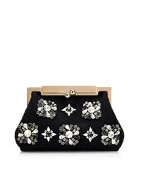 Dolce & Gabbana Black Sara Lace And Crystal Evening Bag