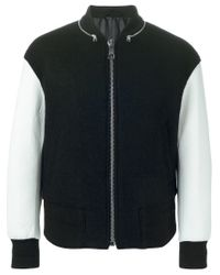 Neil Barrett - Black Two-tone Bomber Jacket for Men - Lyst