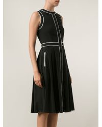 Michael Kors Black Shirt Dress with Piping