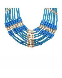 Ziba - Blue Thalia Statement Necklace - Lyst