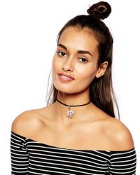 ASOS | Metallic Tree Of Life Choker Necklace | Lyst