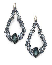 Alexis Bittar | Metallic Miss Havisham Liquid Pyrite & Crystal Broken Glass Teardrop Earrings | Lyst