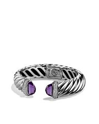 David Yurman | Purple Waverley Bracelet With Diamonds, 7mm | Lyst