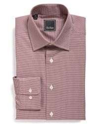 David Donahue | Purple Traditional Fit Houndstooth Dress Shirt for Men | Lyst