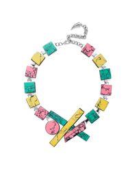 Eshvi | Multicolor Back To School Marble Necklace | Lyst
