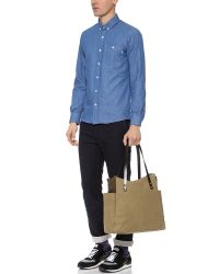 Southern Field Industries Brown Waxed Canvas Px Tote for men