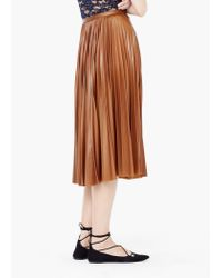 Mango | Brown Pleated Midi Skirt | Lyst