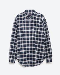 Zara | Green Check Shirt for Men | Lyst