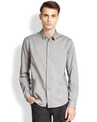 Theory - Gray Stephan Flannel Sportshirt for Men - Lyst