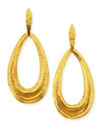Herve Van Der Straeten Metallic Salome Teardrop Clip-On Earrings