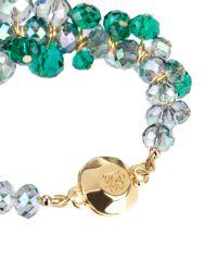 Ted Baker   Green Cluster Bead Bracelet   Lyst