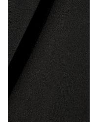 Brunello Cucinelli Black Wool-blend Twill Mini Skirt