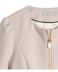 H&M - Natural Short Coat - Lyst