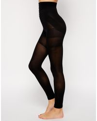 cfd4ab55a36 ASOS 60 Denier Footless Tights With Bum Tum And Thigh Support in ...