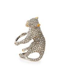 Alexis Bittar Metallic Elements Crystal Panther Ring
