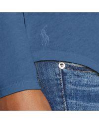 Polo Ralph Lauren Blue Indigo Patchwork Shirt