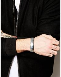 ASOS - Metallic Watch Expander Bracelet for Men - Lyst