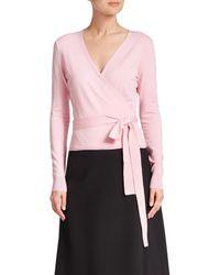 Diane von Furstenberg | Pink Ballerina Wrap Sweater | Lyst