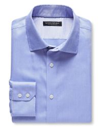 Banana Republic | Blue Slim-fit Non-iron Solid Shirt for Men | Lyst