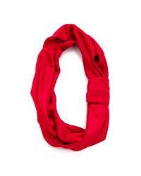 Jennifer Behr Red Silk Jersey Turban Headband - Sienna