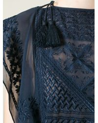 Isabel Marant - Blue Tassel Detail Embroidered Top - Lyst