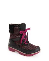 Sorel Black 'tivoli Ii' Waterproof Blanket Boot