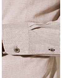 John Lewis Brown Italian End On End Cotton Shirt for men