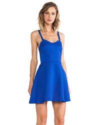 Naven Crossed Circle Mini Dress In Blue Lyst