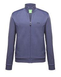 BOSS Green Blue Sweatshirt Jacket 'skaz 1' In Cotton Blend for men