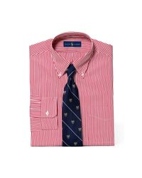 Polo Ralph Lauren - Red Slim Striped Broadcloth Shirt for Men - Lyst