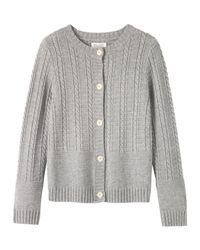 Toast | Gray Guernsey Cable Cardigan | Lyst