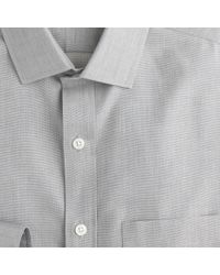 J.Crew - Gray Ludlow Traveler Shirt In End-On-End Cotton for Men - Lyst