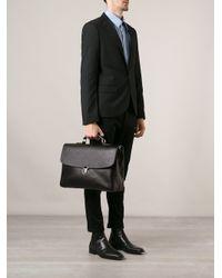 Giorgio Armani Black Classic Briefcase for men