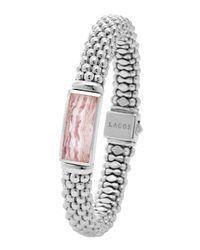 Lagos - Metallic Silver Maya Rhodochrosite Rope Bracelet - Lyst