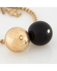 Paul Smith - Metallic Brass Bracelet With Gold And Black Beads - Lyst