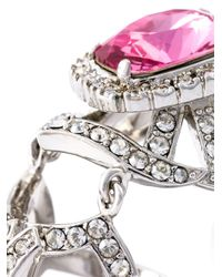 Mawi Metallic Gemstone Knuckle Ring