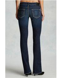 True Religion | Blue Becca Bootcut Pickstitch Womens Jean | Lyst