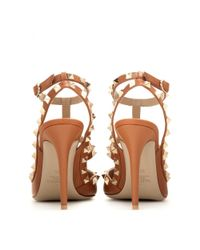 Valentino - Brown Rockstud Leather Pumps - Lyst