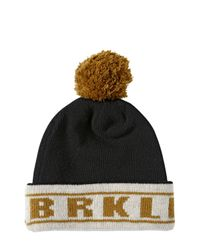 Golden Goose Deluxe Brand Black Brkln Vice Double Wool Beanie Hat for men