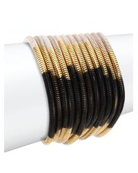 ABS By Allen Schwartz | Metallic Color Mix Ombré Multi-row Coil Bracelet | Lyst