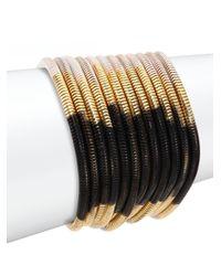 ABS By Allen Schwartz | Metallic Color Mix Ombré Multi-row Coil Bracelet | Lyst