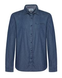 Tommy Hilfiger Blue Aron Textured Classic Collar Shirt for men