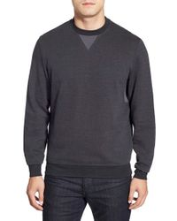 Bugatchi | Gray Long Sleeve Knit Sweatshirt for Men | Lyst