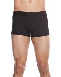 BOSS Black Stretch Modal & Cotton Logo Jacquard Trunks for men