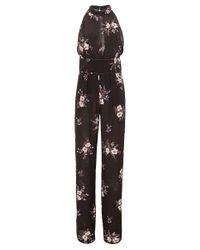 Nina Ricci - Brown Black Sleeveless Jumpsuit - Lyst
