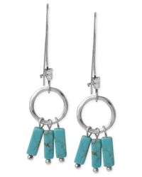Robert Lee Morris | Blue Silver-tone Semi-precious Turquoise Shaky Bead Drop Earrings | Lyst