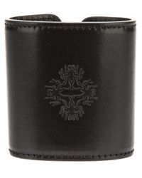 Ann Demeulemeester - Black Leather Cuff - Lyst