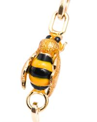 Delfina Delettrez - Metallic Gold Bee Bracelet - Lyst