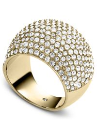 Michael Kors - Gray Pave Dome Ring - Lyst